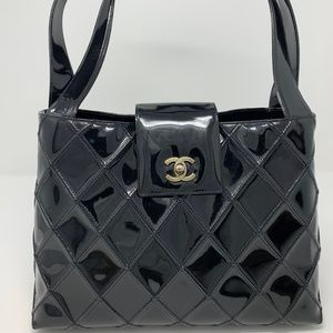 Chanel Mademoiselle Quilted Matelasse Tote Bag